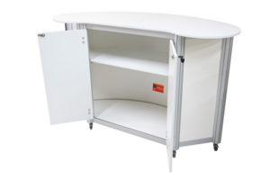 Curved Freeform Lockable Counter